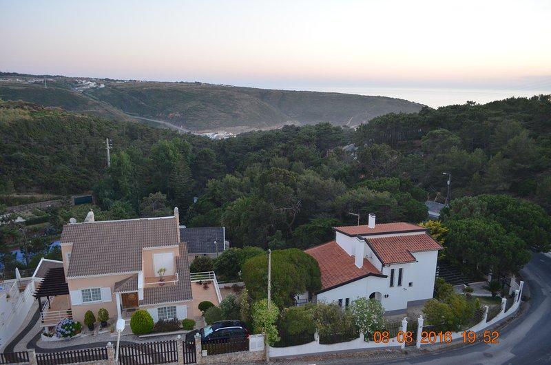 panoramic balcony view of house