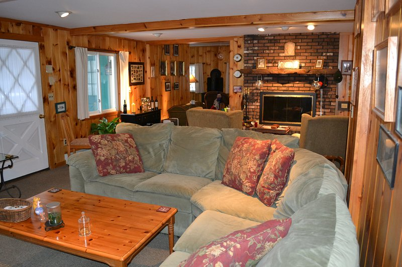 Sit in front of a fire in the fireplace or relax on the couch in front of your favorite TV show.