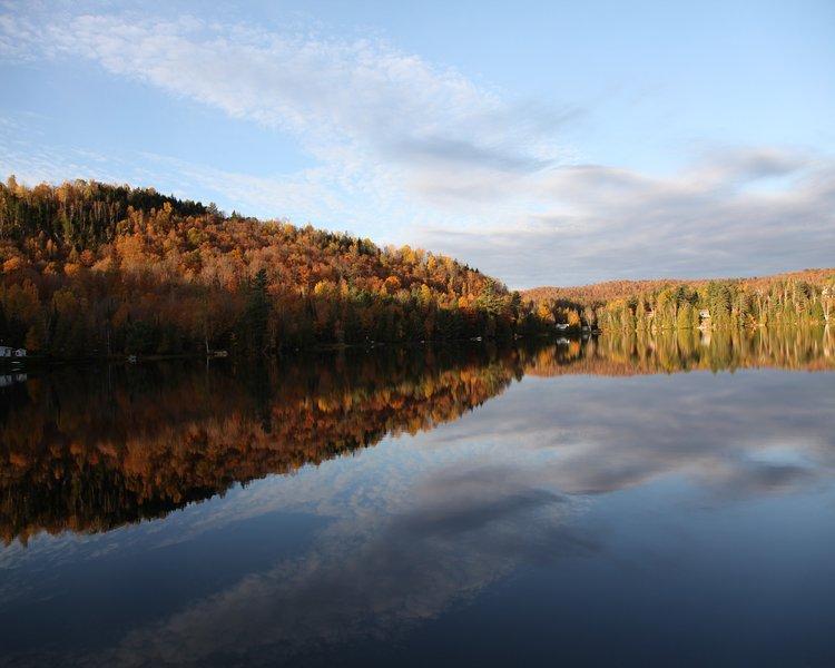 Vista do lago (início do Outono)