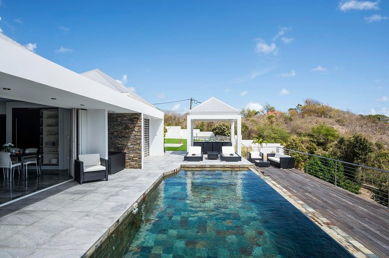 Villa Aya in St Jean the most fashionable area on St Barts, ideal for families, holiday rental in St. Jean