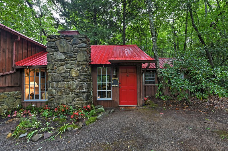 Serene Creekside Cottage Near Asheville w/Fire Pit, holiday rental in Candler