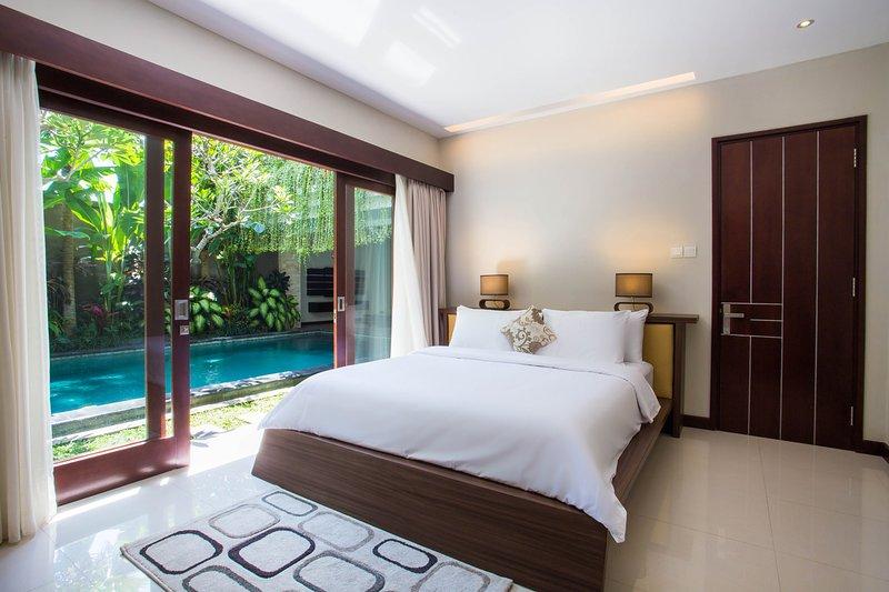 bedroom view pool