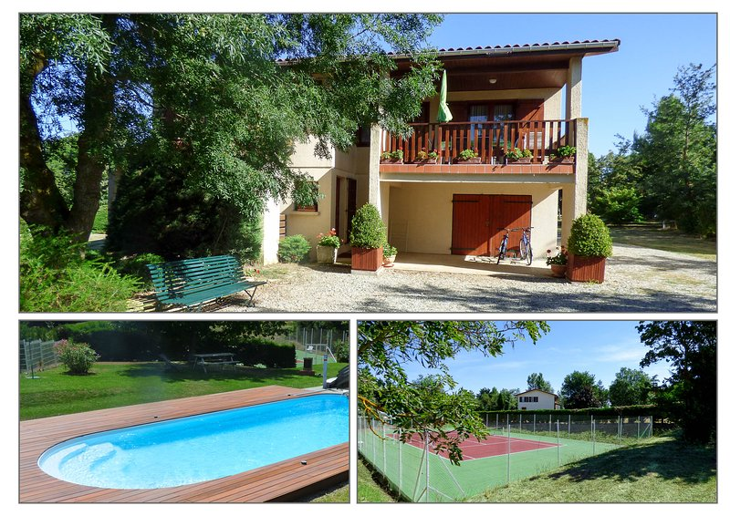 Villa indépendante avec tennis et piscine privèe, holiday rental in Villenouvelle