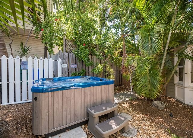 Shared, on-site hot tub