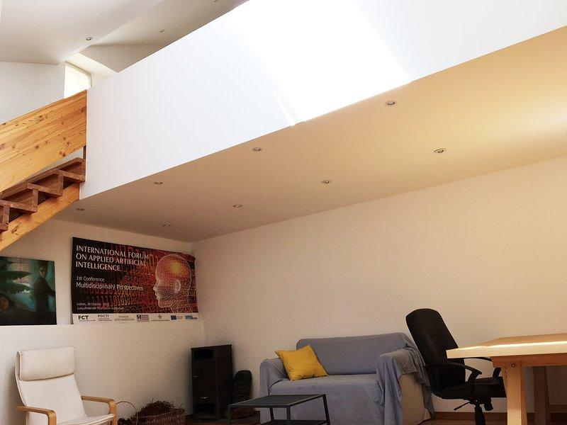 Living room, view to the mezaninne