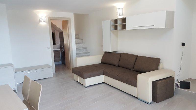 καθιστικό με καναπέ-κρεβάτι