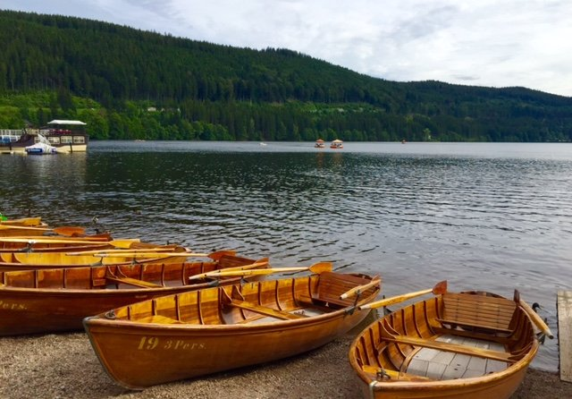 The rowing boats at Lake Titisee (15 minutes away). Always fun and a great exercise too ;-)