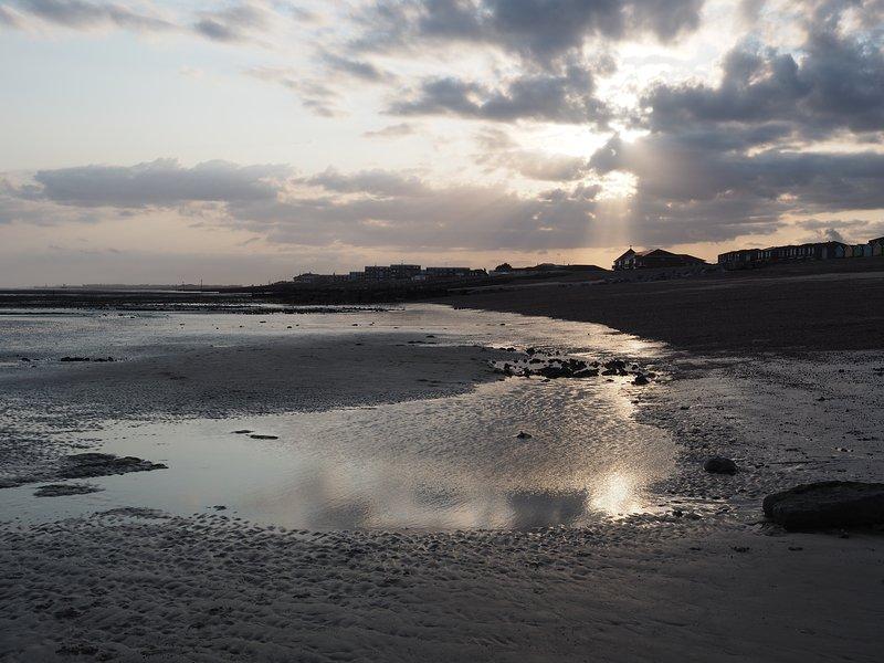 Local beach, less than 5 minute walk.