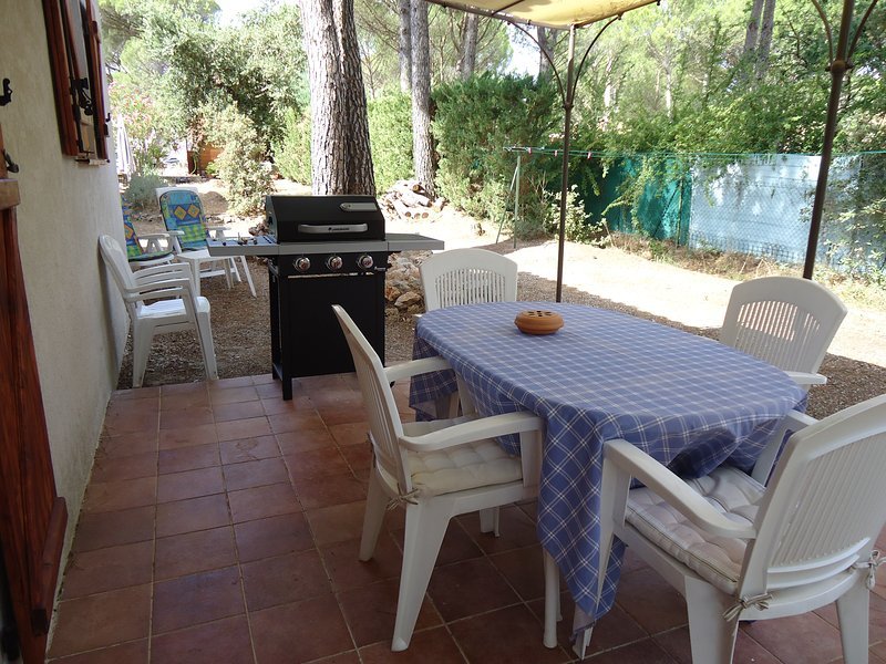Terrace with gas BBQ