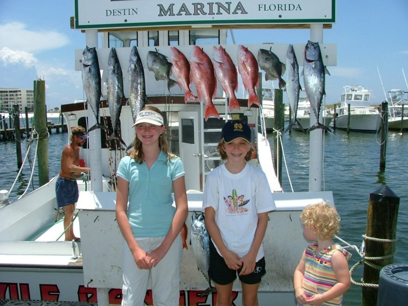 Charter fishing in nearby Destin