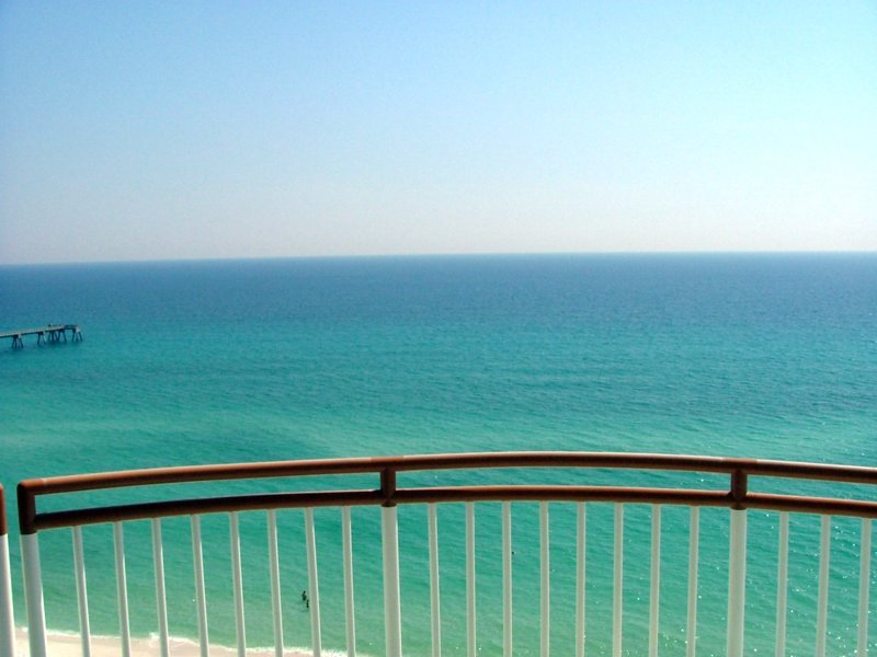 Southerly view from balcony overlooking Gulf