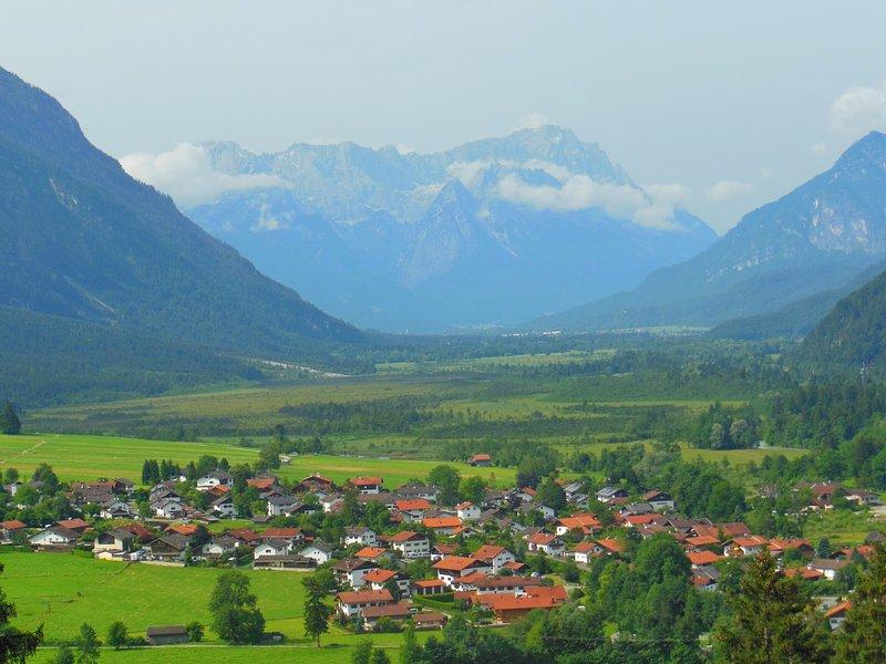 Eschenlohe from Mount Peak