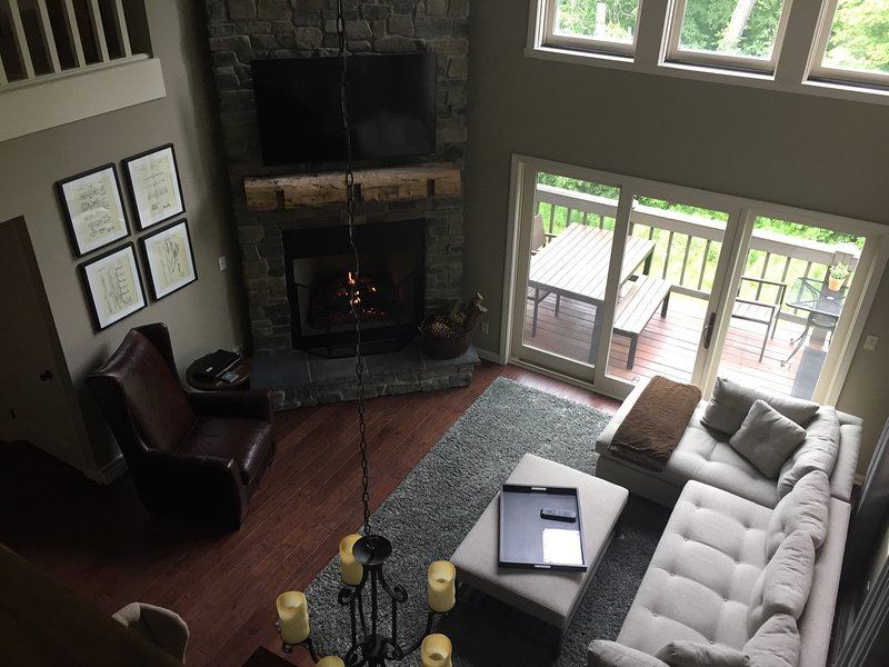 Living area - view from loft
