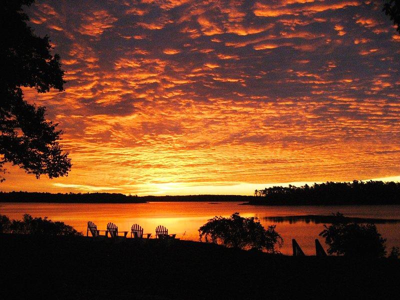 Enjoy spectacular sunrises over Casco Bay and the islands.