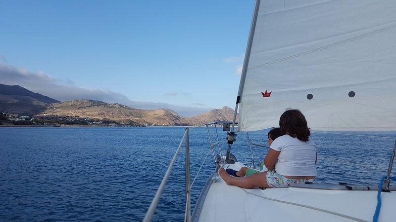 Sail in the bay of Porto Santo