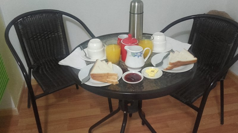 Continental breakfast included