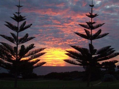 Tapisserie de couchers de soleil spectaculaires de la nature