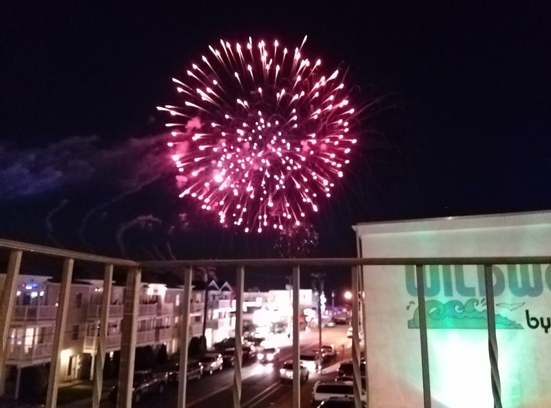 Friday night fireworks from your condo deck.