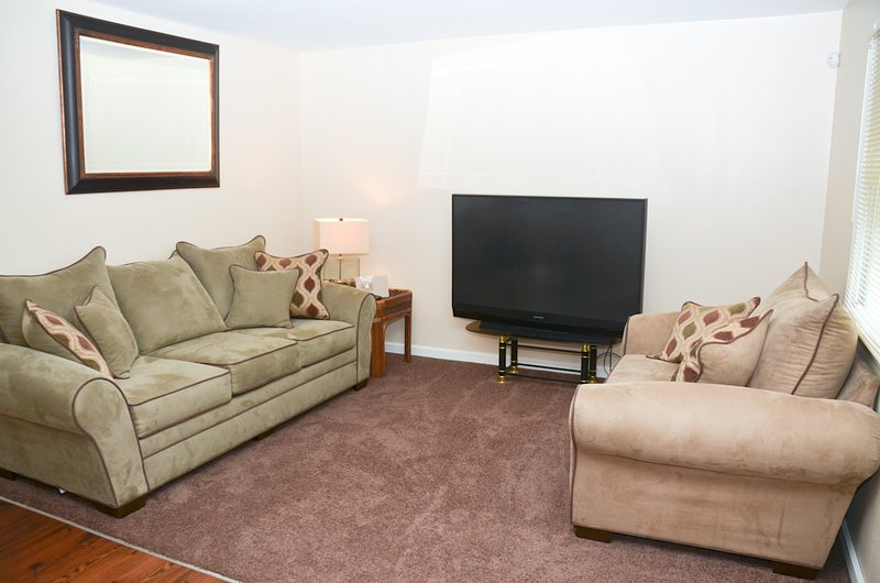 Living Room w/ cable TV