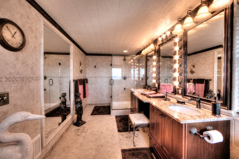 Maybe the most glamorous bathroom in these mountains
