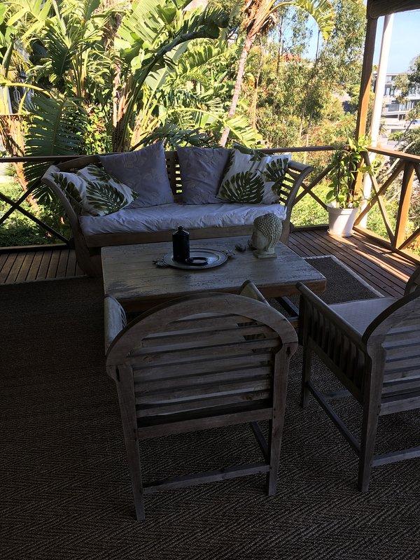comfortable outside sitting area