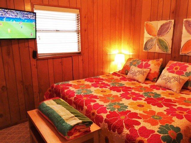 Flat TV projeté dans la chambre avant