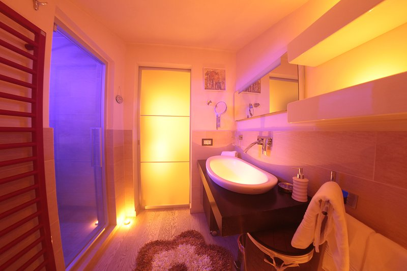 bathroom with Jacuzzi and hammam 2 places with aroma and color therapy