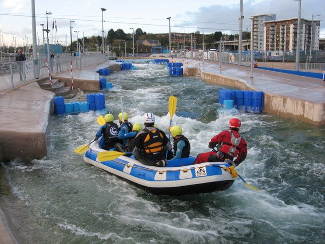 Cardiff International White Water Rafting next door!