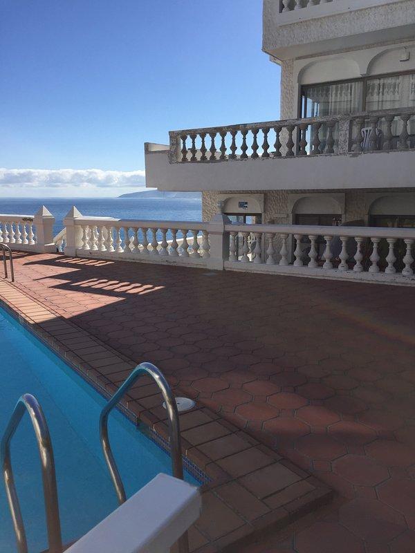 Foto vom Pool zum Appartement