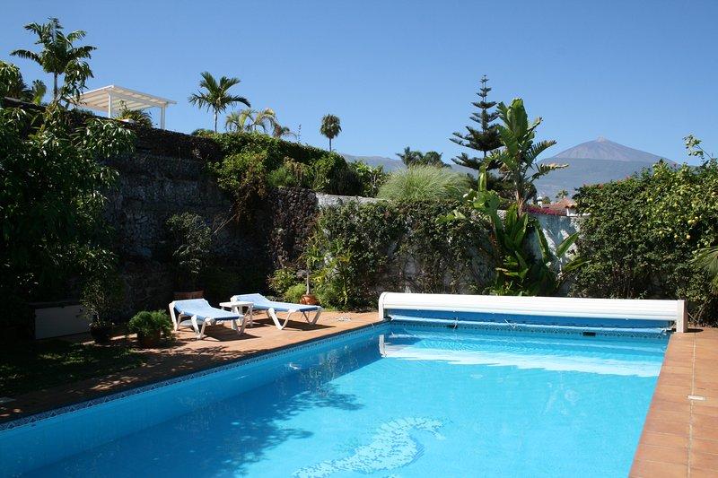 50 piscina riscaldata mq con vista sul Monte Teide!