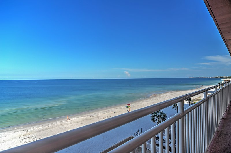 This St. Petersburg condo is only steps from the beach!