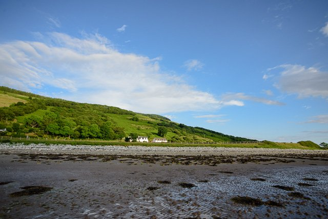 Westfield, in splendid isolation, from the beach at low tide