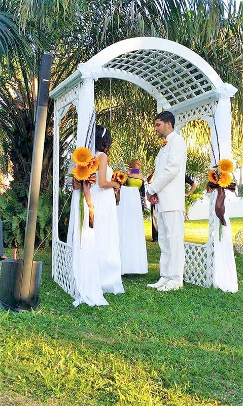 wedding in the green areas