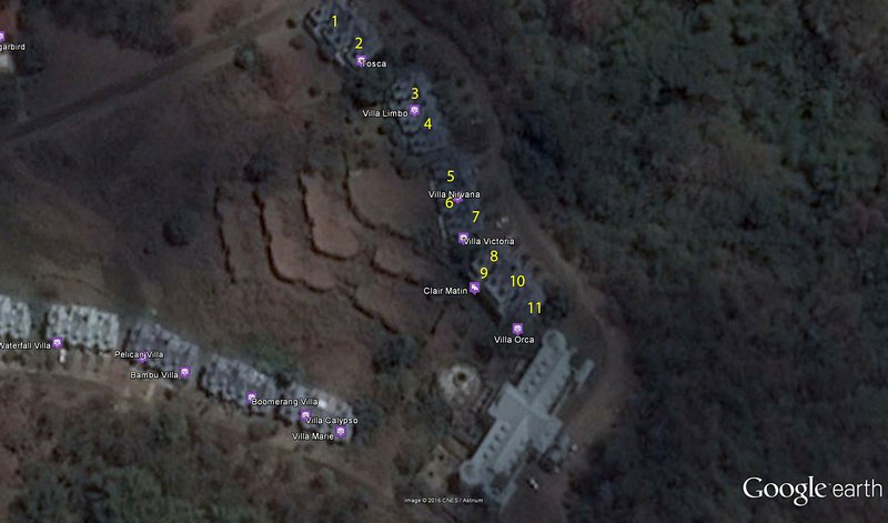 Location of Villa Nirvana at #5 Sanctuary