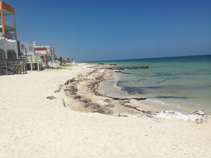 Playa mirando hacia el oeste