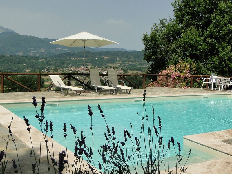 Private pool with stunning views of Castiglione