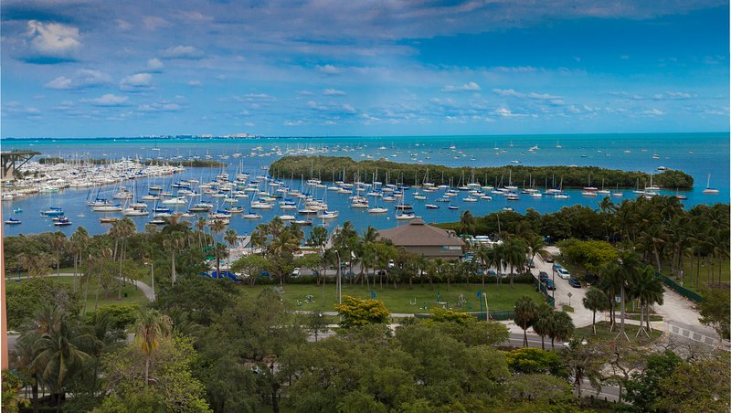 Stunning marina and ocean views from your condo. Photo taken from your balcony.