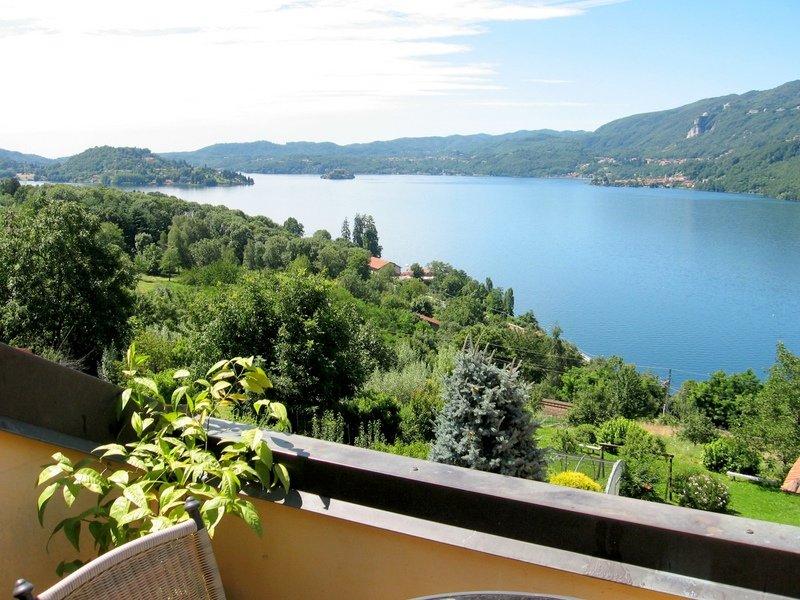 Havet och panoramautsikt från terrassen fritidshus