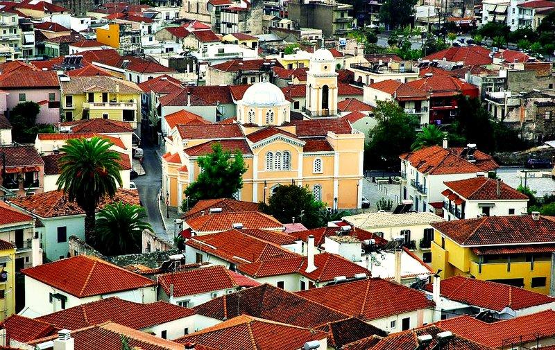 Caption of old city of Kalamata