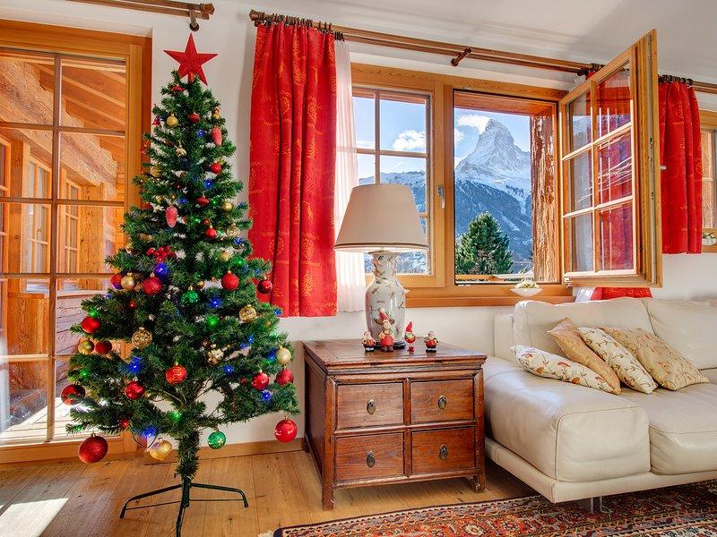 Chalet Ulysse Zermatt Top location/Great appartment 170m2 for 8 guests, vacation rental in Zermatt