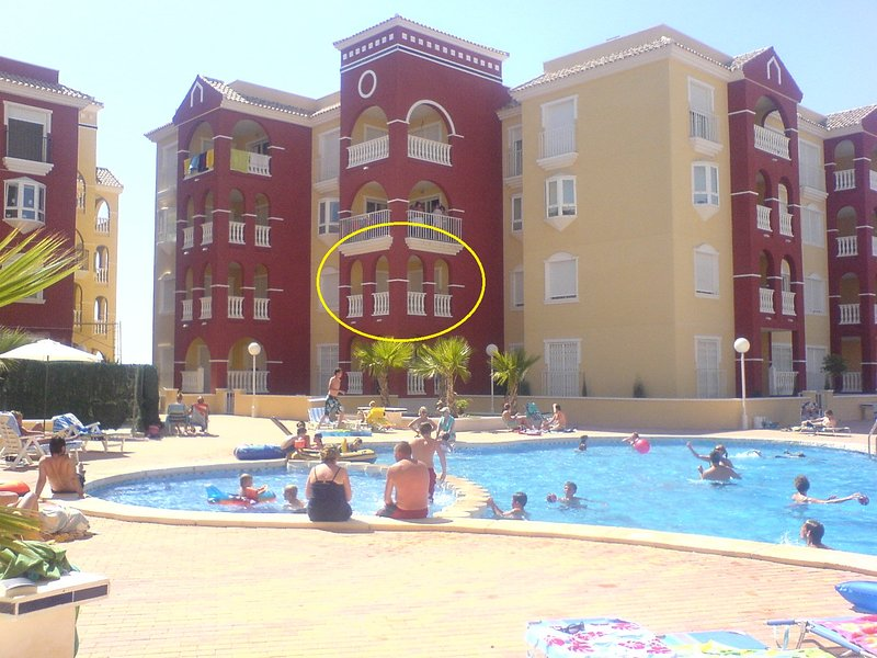 The apartment Circled in yellow.