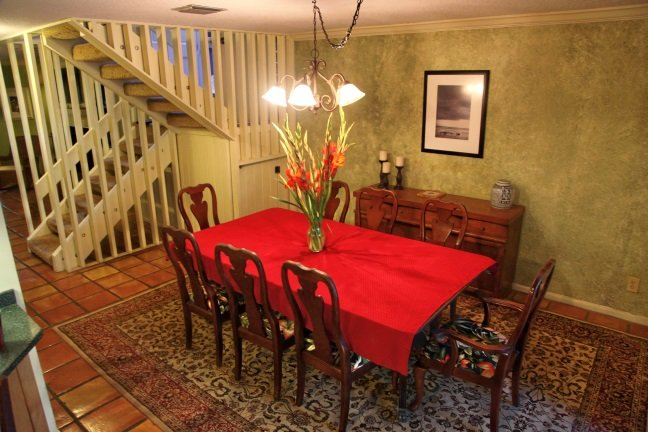 Large dining room table  with seating for 8