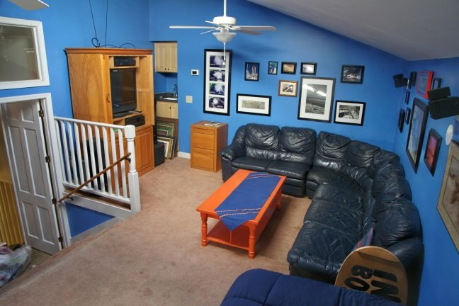 Large, separate family room, fully equipped with plenty of room for the kids and doors to keep quiet