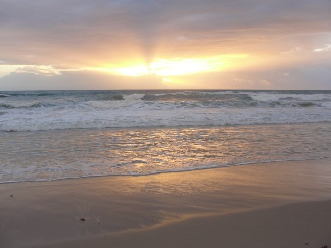 Sunrise on the beach, just a quick walk or bike ride away