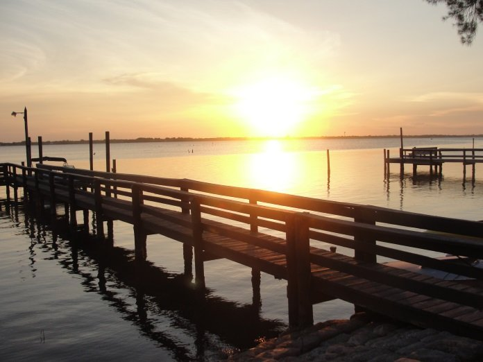 Sunset on the Indian River, across the street