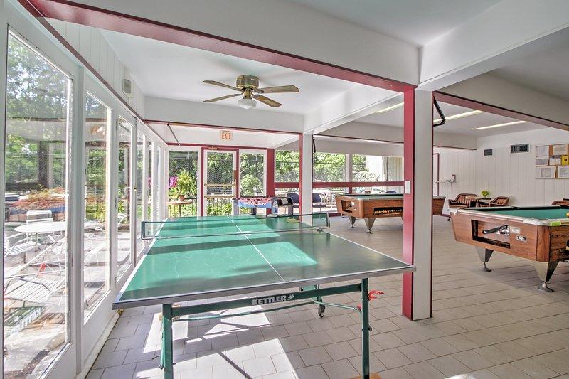 La sala giochi nella clubhouse è un luogo ideale per rimanere intrattenuti!