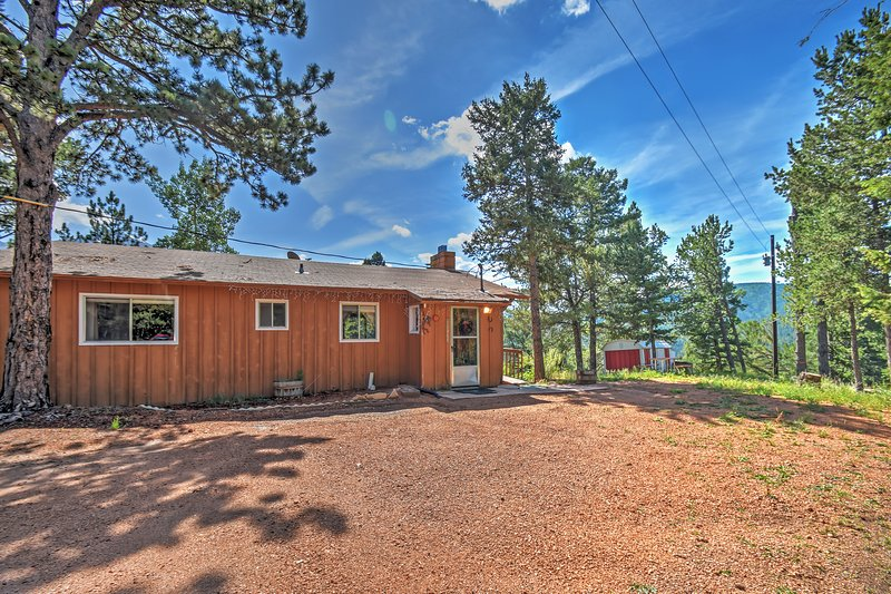 A magnificent secluded retreat awaits you at this Divide vacation rental cabin!