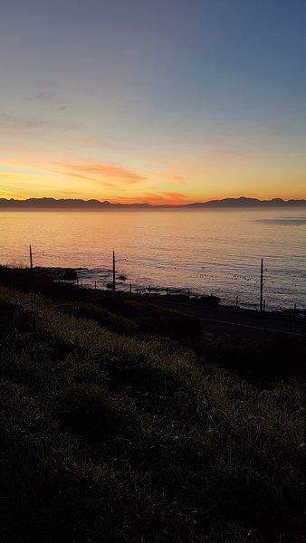 De valse baai van Glencairn Heights bij zonsopgang