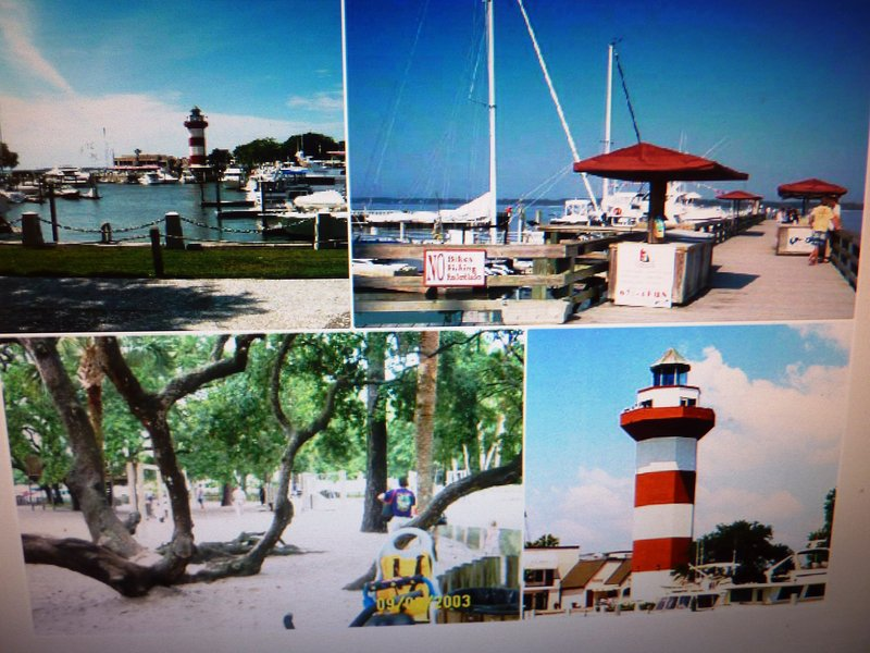 harbor town and the Salty Dog café  short bike ride away