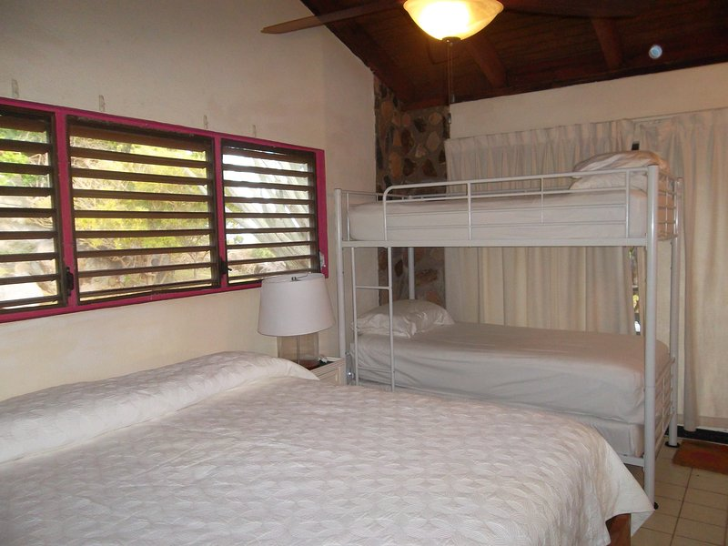 West King Bedroom with Bunk Beds ( 250# each)